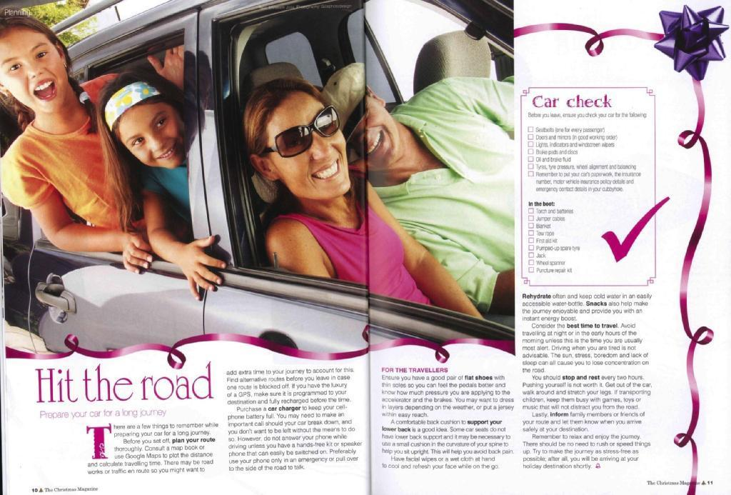 Feature Article - Hit the Road (The Christmas Magazine, Panorama Publications)