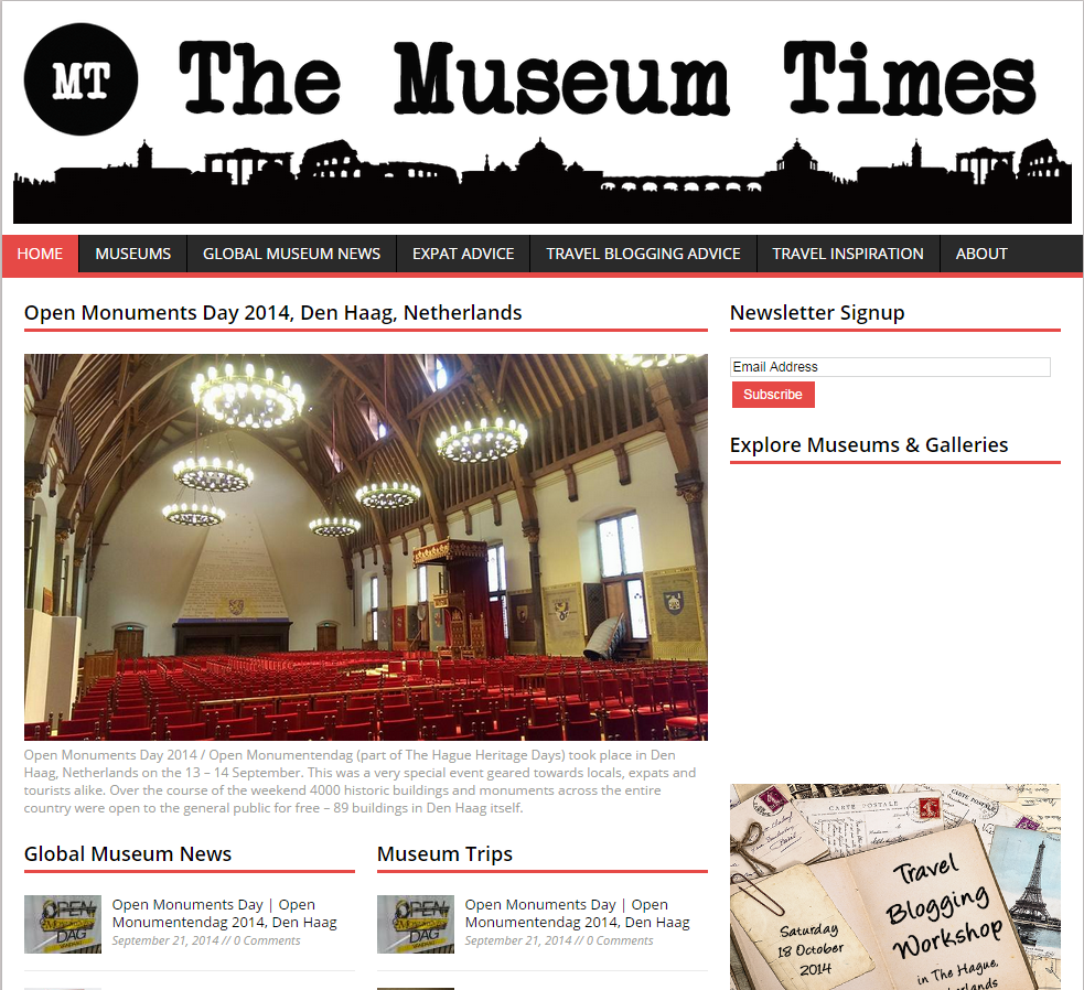 The Museum Times (Personal Travel Blog)