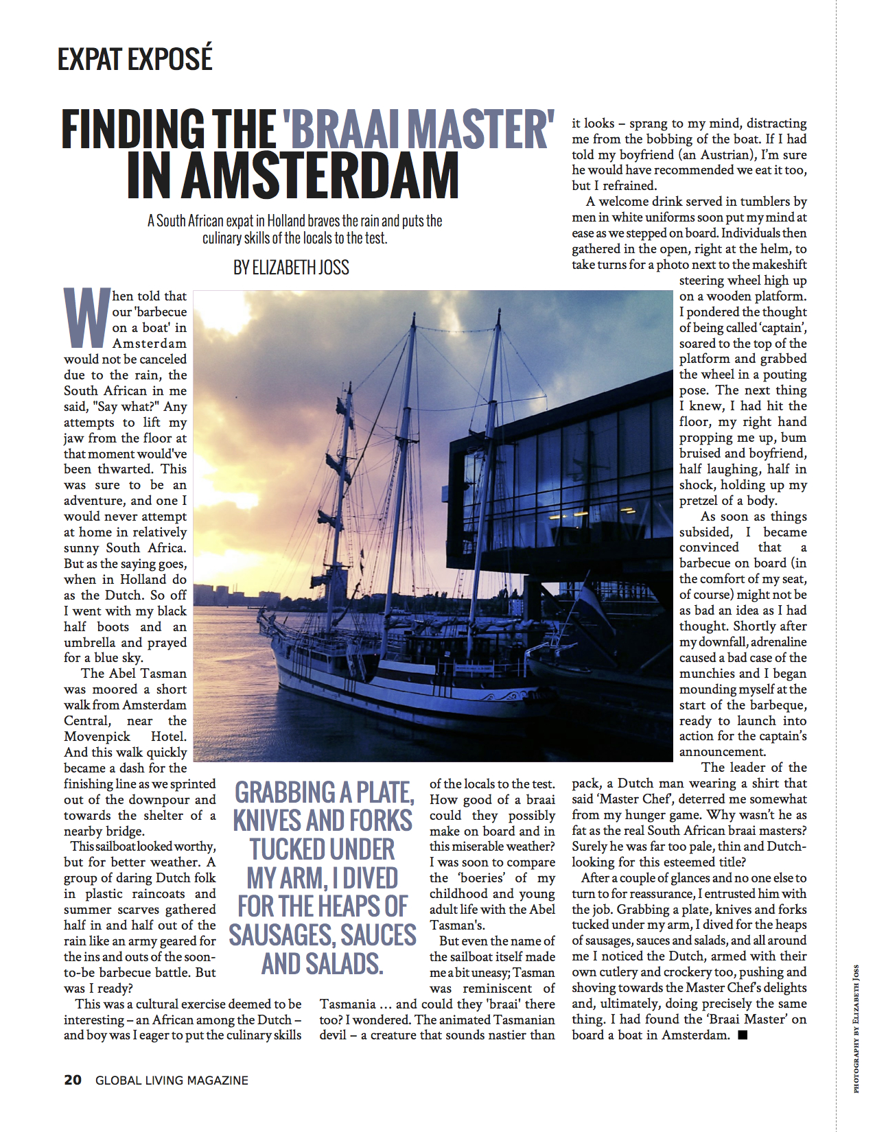 Feature Article - 'Finding the 'Braai Master' in Amsterdam' (Global Living Magazine, November 2014)