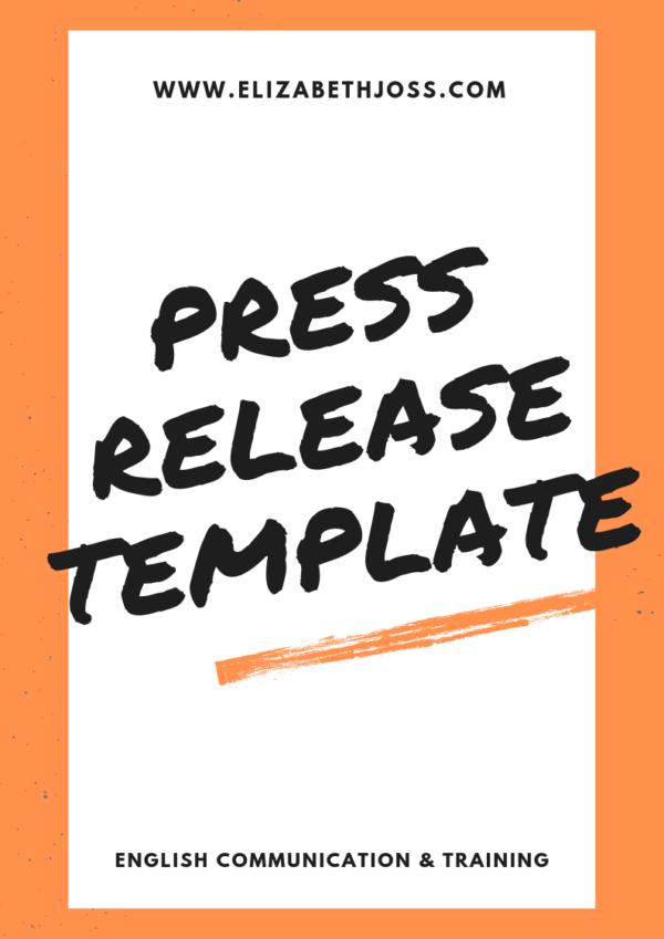 Press Release Template Free Elizabeth Joss Bethlehem